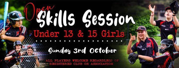 Open Skills Session - Under 13\/15 Girls