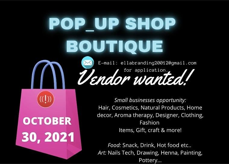 Vendor wanted for Halloween Pop-up Shop in a Store Boutique
