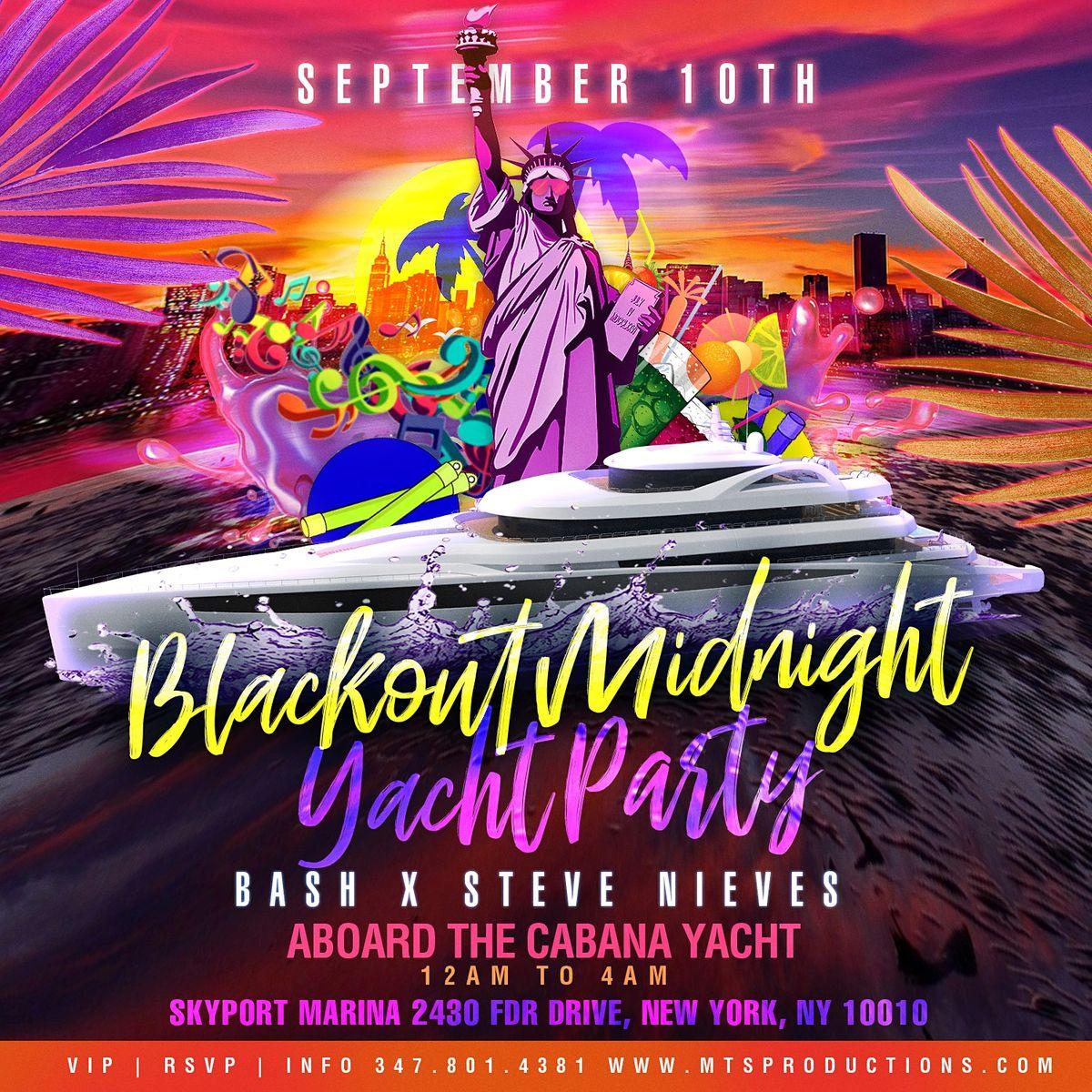 Blackout Midnight Yacht Party at Cabana Yacht