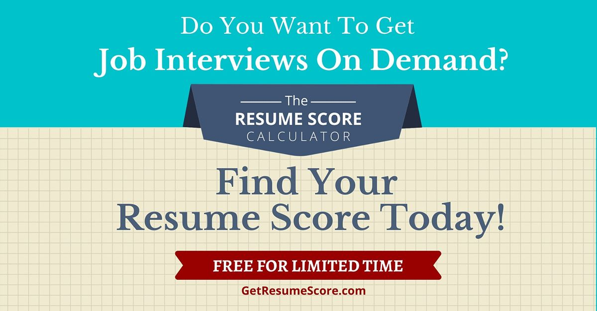 """Resume Score Maximizer"" \u2014 Do You Know Your Resume Score? \u2014 Singapore"