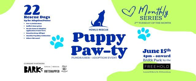 Howls Rescue Puppy PAW-ty