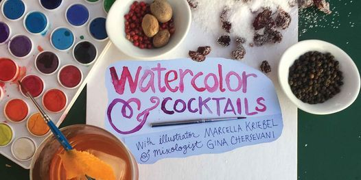 September Watercolor and Cocktails: A Sip + Paint Outdoors at Union Market