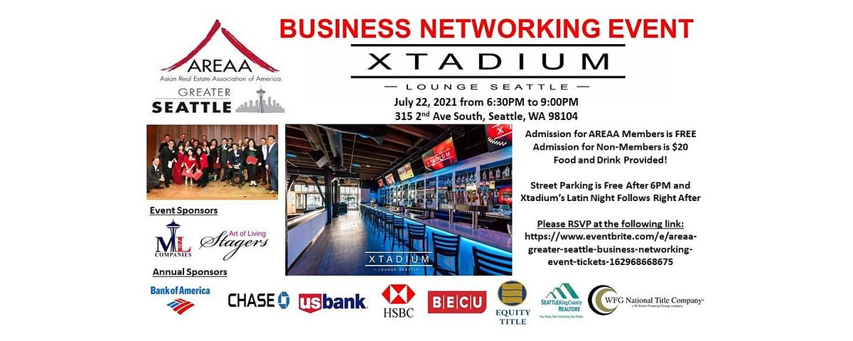 AREAA Greater Seattle Business Networking Event