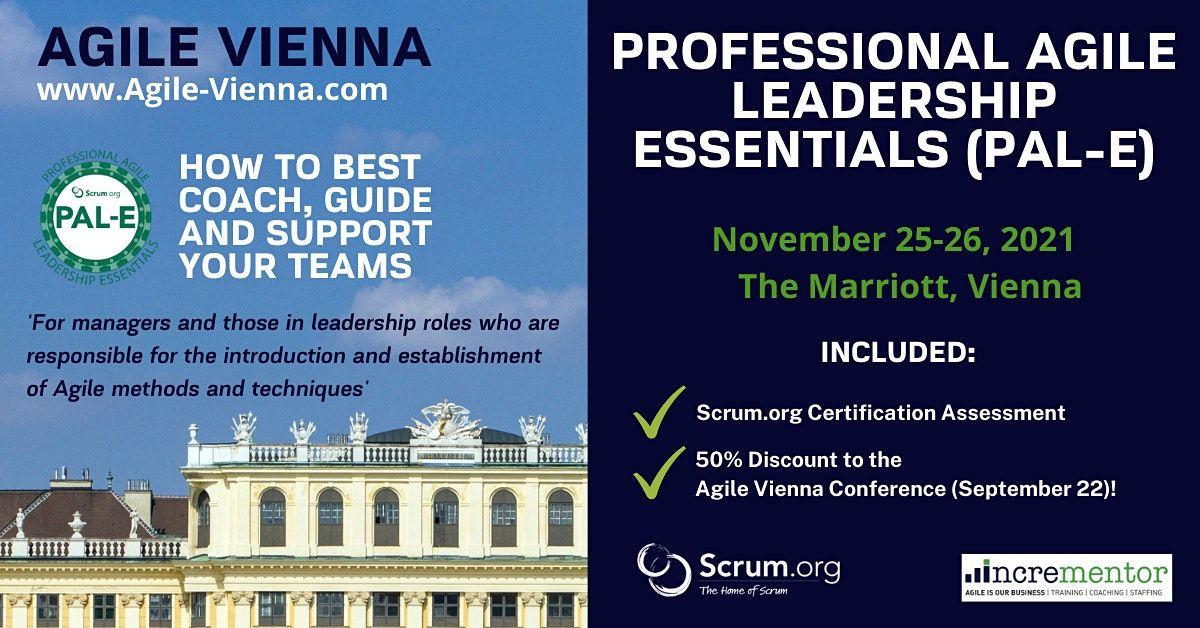Agile Vienna | Certified Training | Professional Agile Leadership (PAL-E)