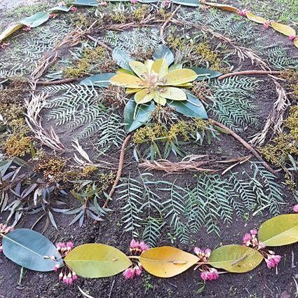Forage-Flower Mandalas