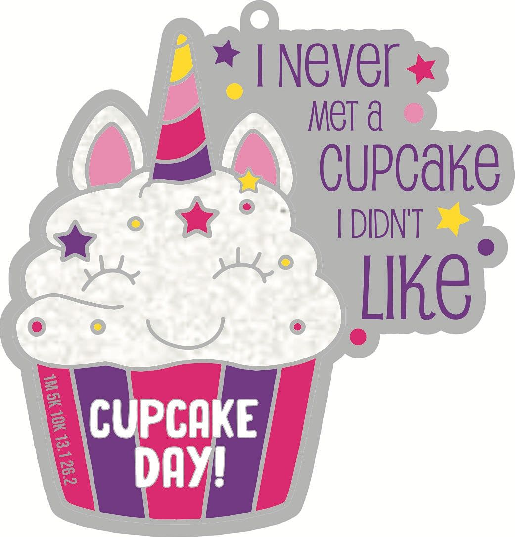 2021 Cupcake Day 1M 5K 10K 13.1 26.2-Participate from Home  Save $5