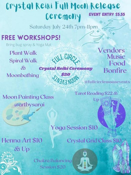 Crystal Reiki Healing Full Moon Release Ceremony