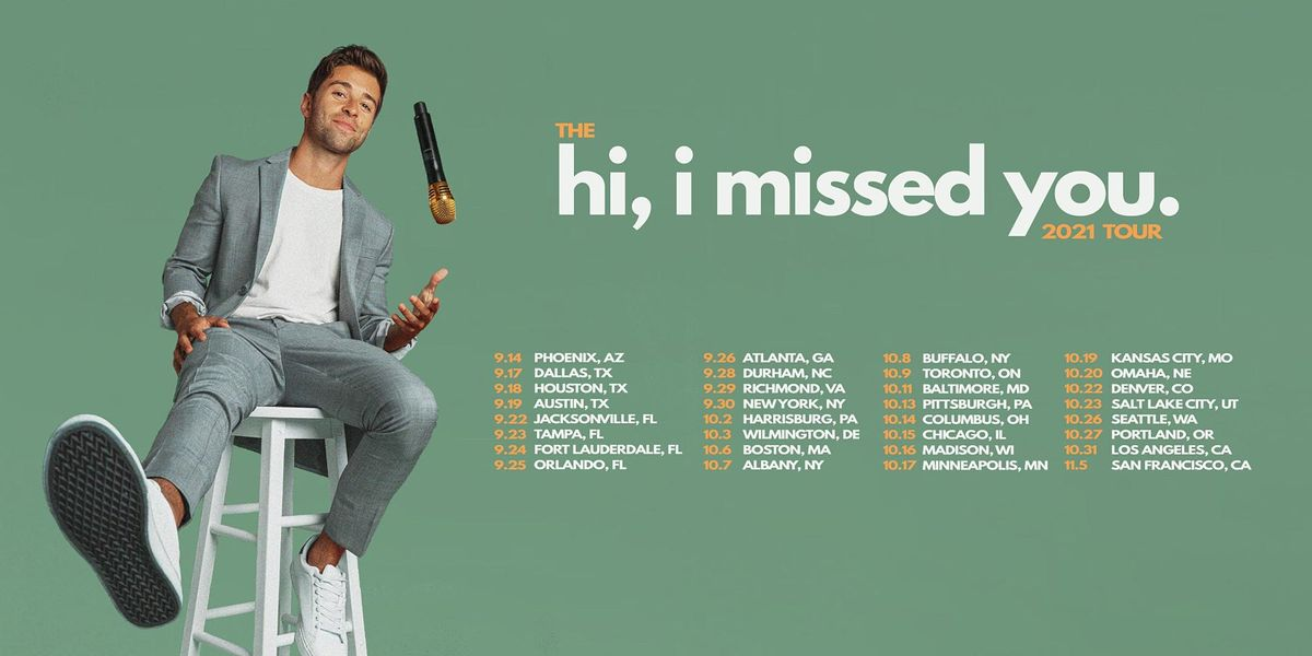 Jake Miller - hi, i missed you tour 2021 - Orlando, FL