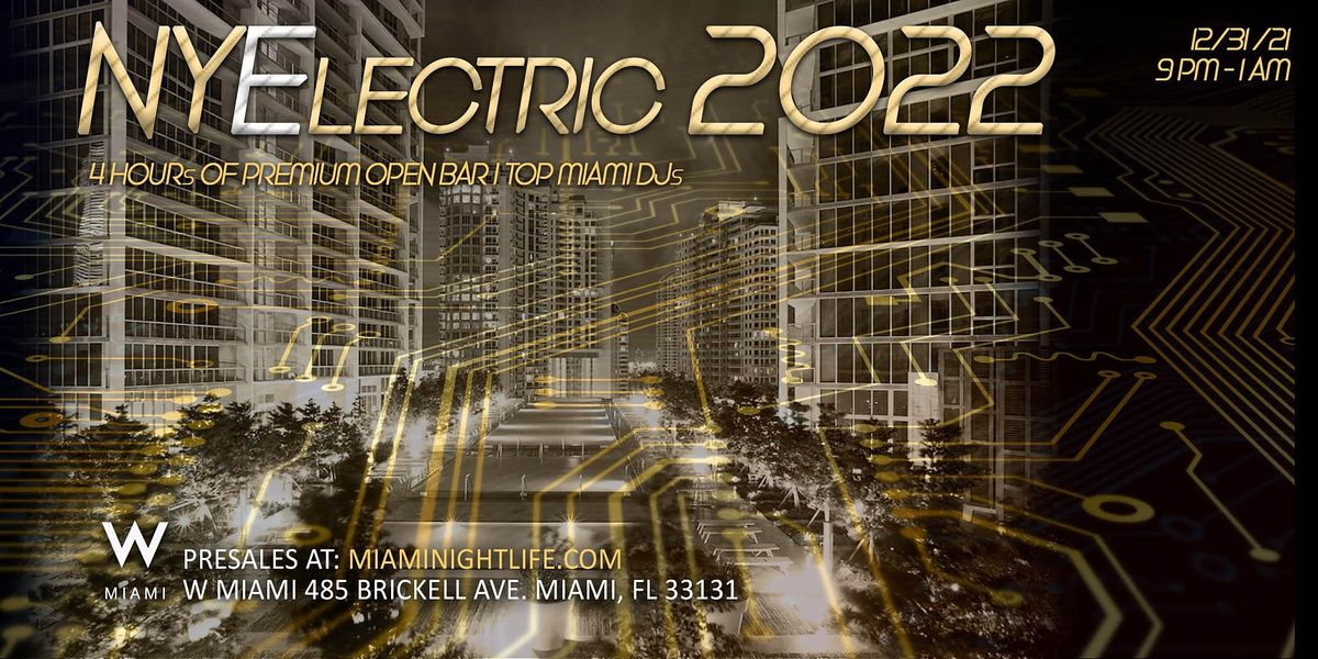 2022 W Hotel Miami New Year's Eve Party