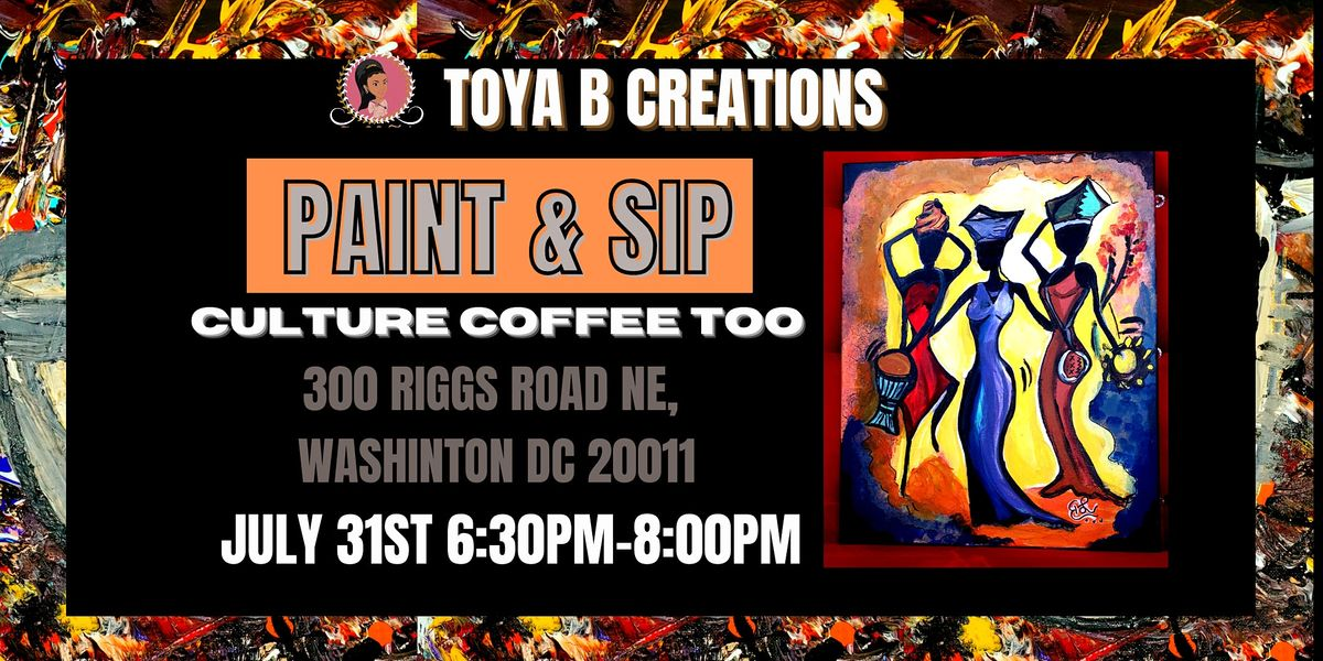 Paint & Sip at Culture Coffee Too