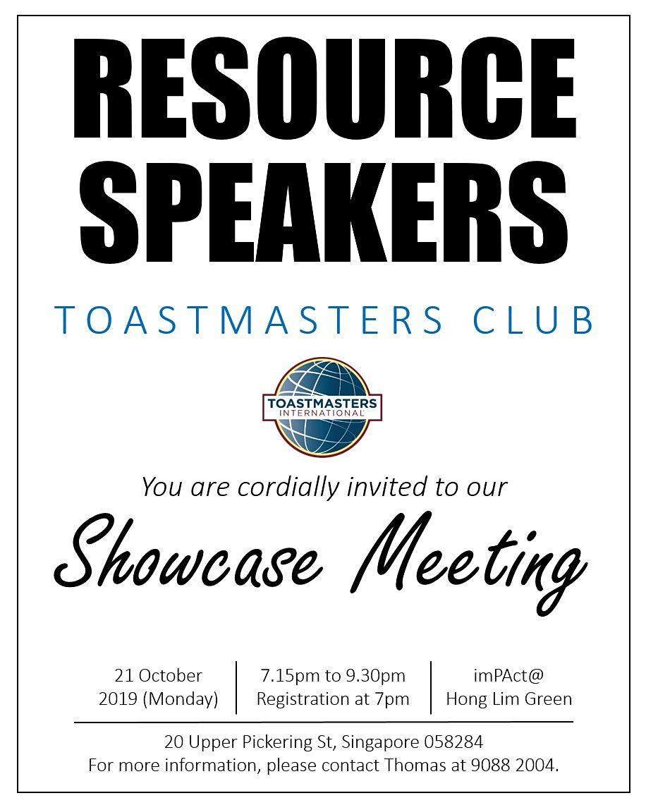 Resource Speakers @ imPAct - Public Speaking Seminar