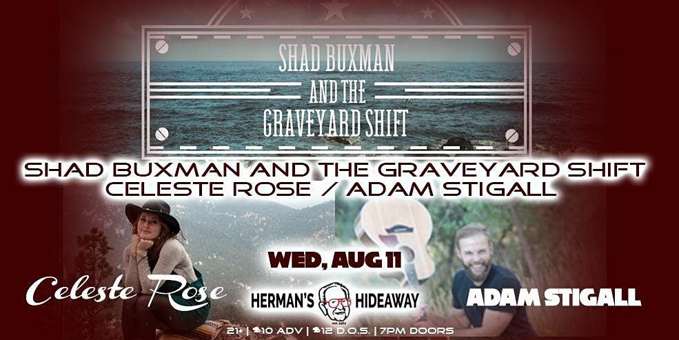 Shad Buxman and the Graveyard Shift   Celeste Rose   Adam Stigall
