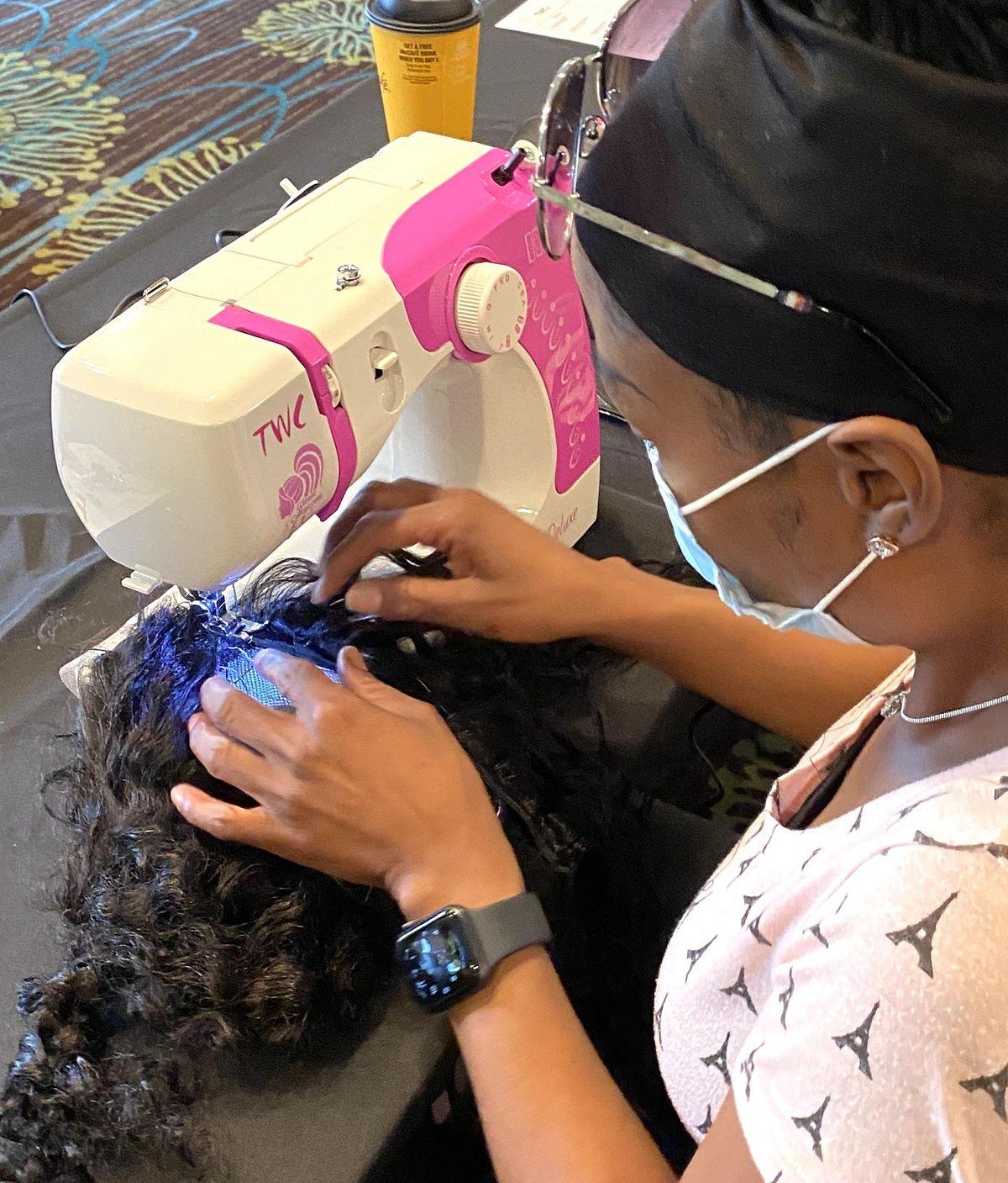 Miami FL | Enclosed Wig or U-Part Wig Making Class Sewing Machine