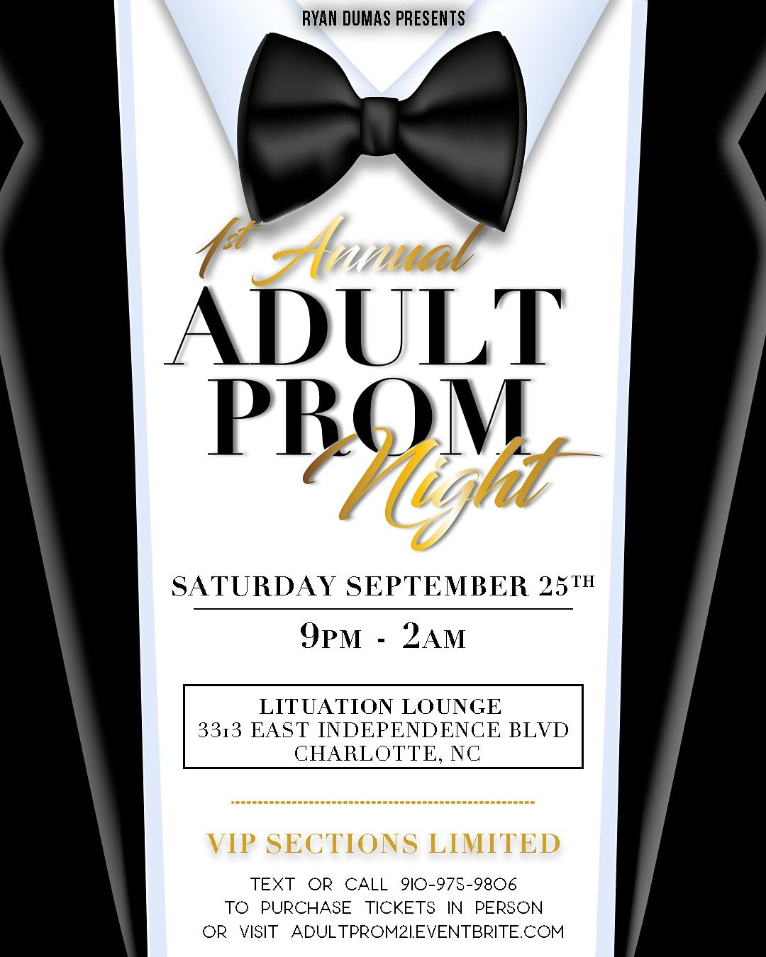 1st Annual Adult Prom