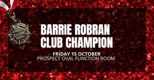 Barrie Robran Club Champion