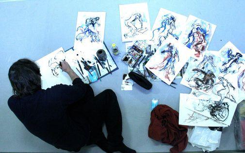 Workshop Flamenco schilderen, naar beweging - Edgar Jansen