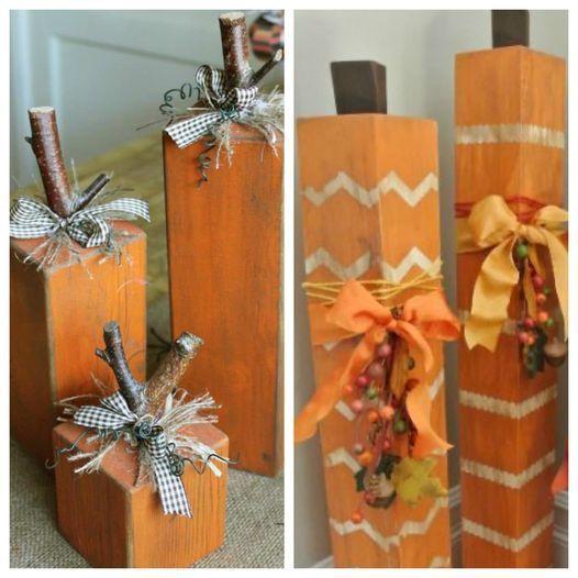 Upcycling University: Wooden Pumpkins