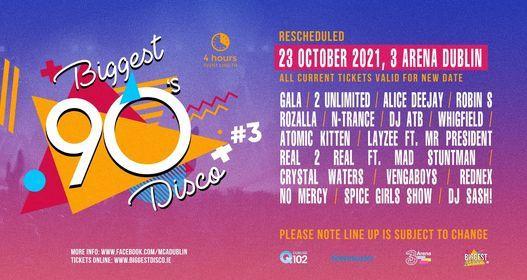 Biggest 90s disco concert Dublin #3 3arena