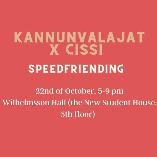 Kannunvalajat x CISSI - Speedfriending