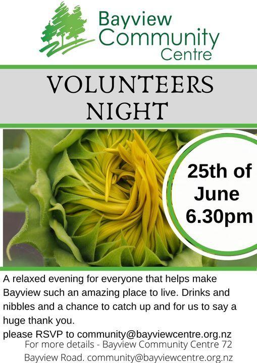 Volunteers night