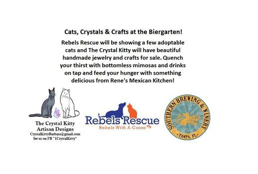 Cats, Crystals and Crafts at the Biergarten!