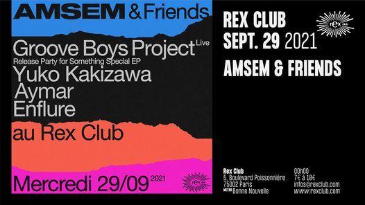 AMSEM & FRIENDS: GROOVE BOYS PROJECT Live, Yuko Kakizawa, Aymar, Enflure