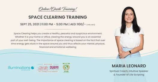Online\/Onsite Training: Space Clearing Training With Maria Leonard
