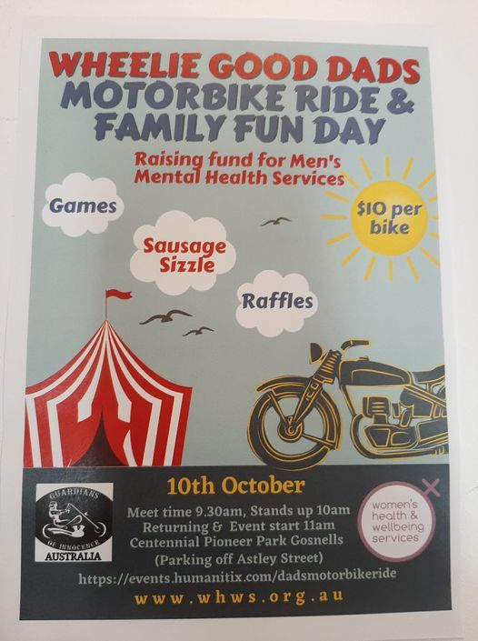 """""""Wheelie good dads"""" fundraising ride and family day"""