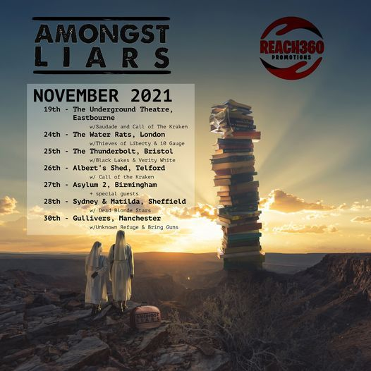 Amongst Liars debut tour w\/Verity White & Black Lakes