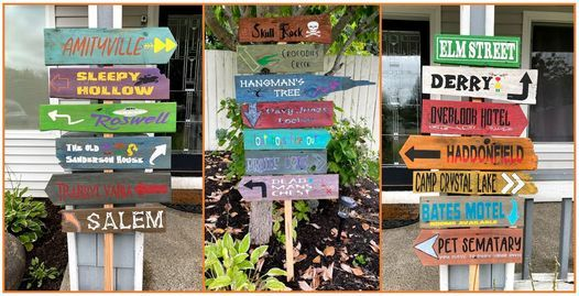 Craft & Sip: Halloween Directional Sign