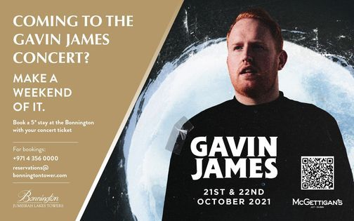 Gavin James Concert & Stay
