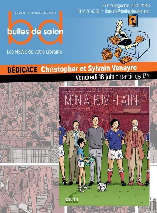 Christopher & Sylvain Venayre en d\u00e9dicace chez Bulles de Salon