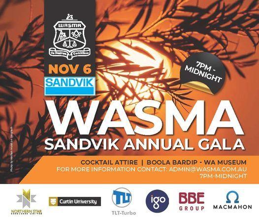 WASMA Sandvik Annual Gala