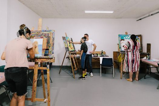 In-studio Painting With Acrylic or Oil