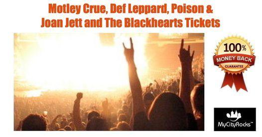 The Stadium Tour Motley Crue Def Leppard Poison Joan Jett Tickets Miami Gardens FL Hard Rock Stadium