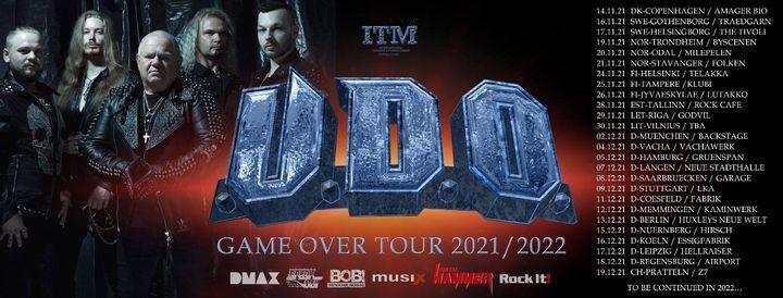 U.D.O. - Game Over Tour 2021   Backstage M\u00fcnchen
