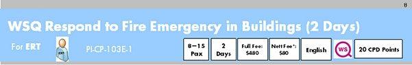 WSQ Respond to Fire Emergency in Buildings (PI-CP-103E-1)Run 187