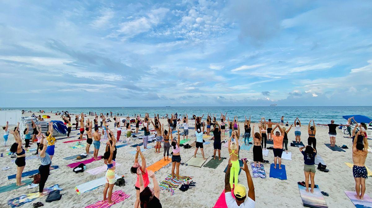 Full Moon Yoga on The Beach by Warrior Flow