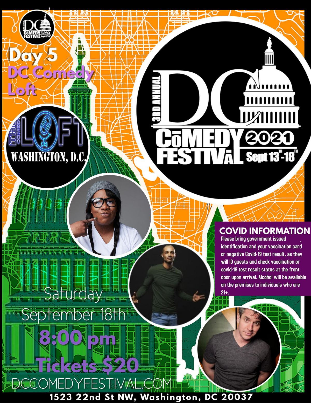 DC Comedy festival at the DC  Comedy Loft