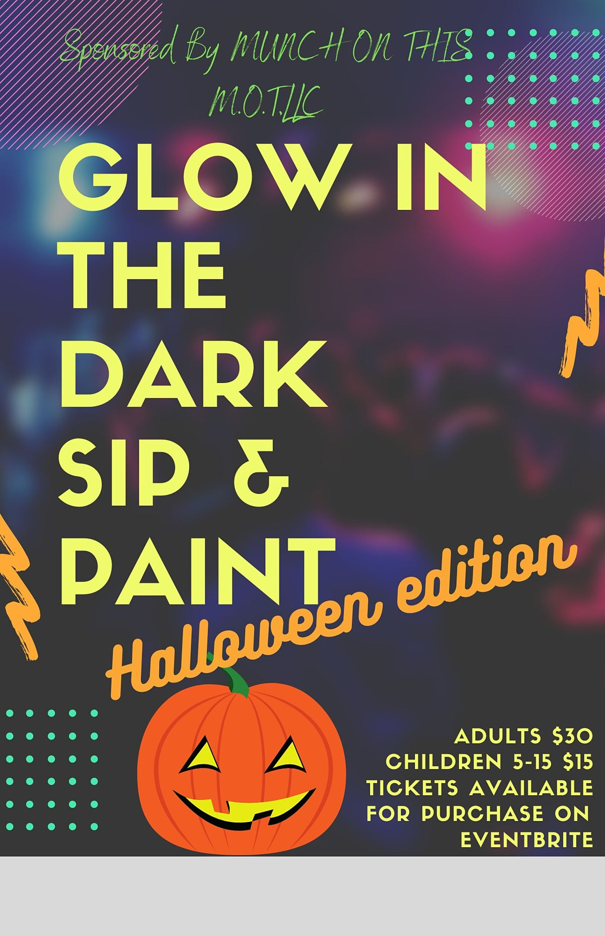 Glow in the dark sip and paint-Halloween edition
