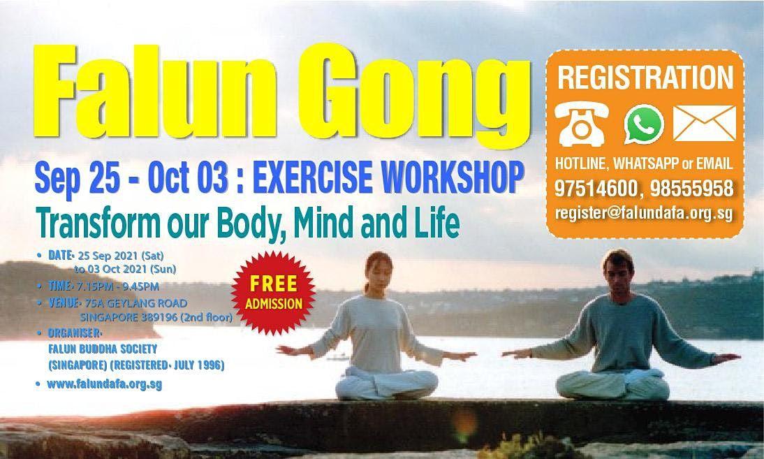 9-Day Falun Gong Exercise Workshop \u6cd5\u8f6e\u529f\u4e5d\u8bb2\u5b66\u4e60\u73ed
