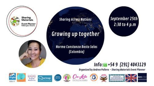 """Sharing Across Nations """"Growing up together!"""" by Norma Basto Salas"""