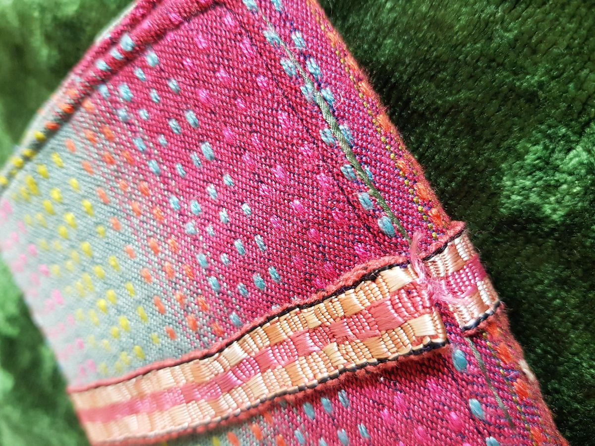Hand stitched historical sewing roll workshop