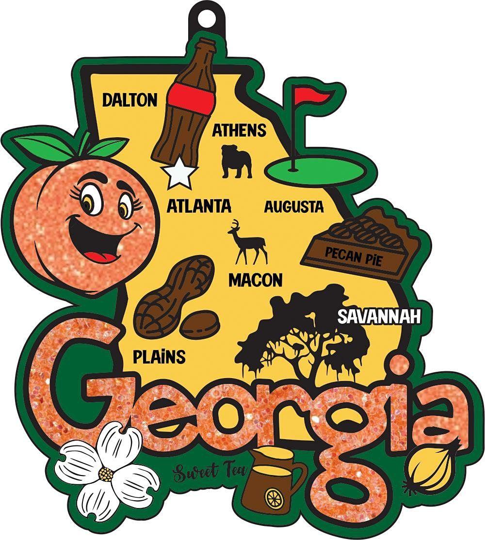 2022 Race Thru Georgia 5K 10K 13.1 26.2 -Participate from Home Save $2
