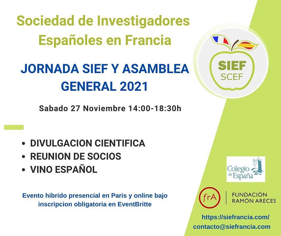Jornada SIEF-SCEF y Asamblea General 2021