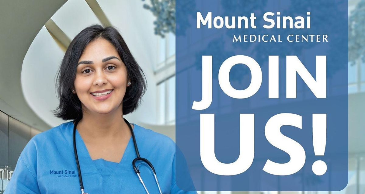 Registered Nurse Hiring Event With Mount Sinai