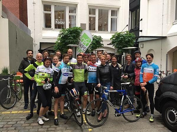 14. Rennradtraining in Hamburg