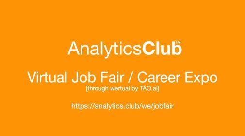 AnalyticsClub Virtual Job Fair \/ Career Expo Event