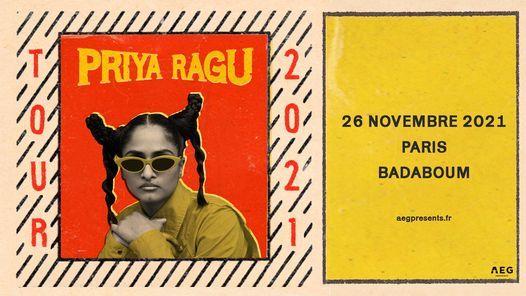 Priya Ragu \u2022 BADABOUM \u2022 26 novembre 2021