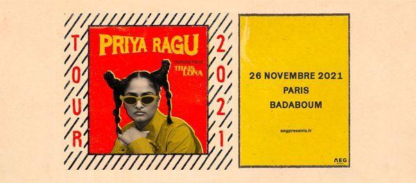 Priya Ragu + Tha\u00efs Lona \u2022 BADABOUM \u2022 26 novembre 2021